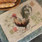 Rooster Run 14 in. x 20 in. Natural Placemat (Set of 4)