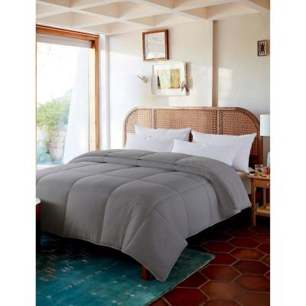 Cozy Reversible All Season Glacier Grey Full/Queen Down Comforter