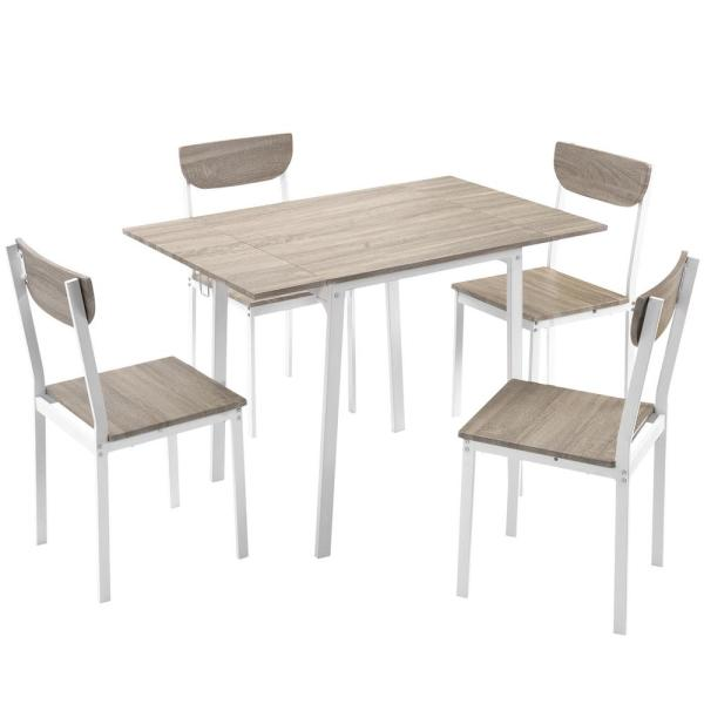 5 Piece Modern Metal Dining Set