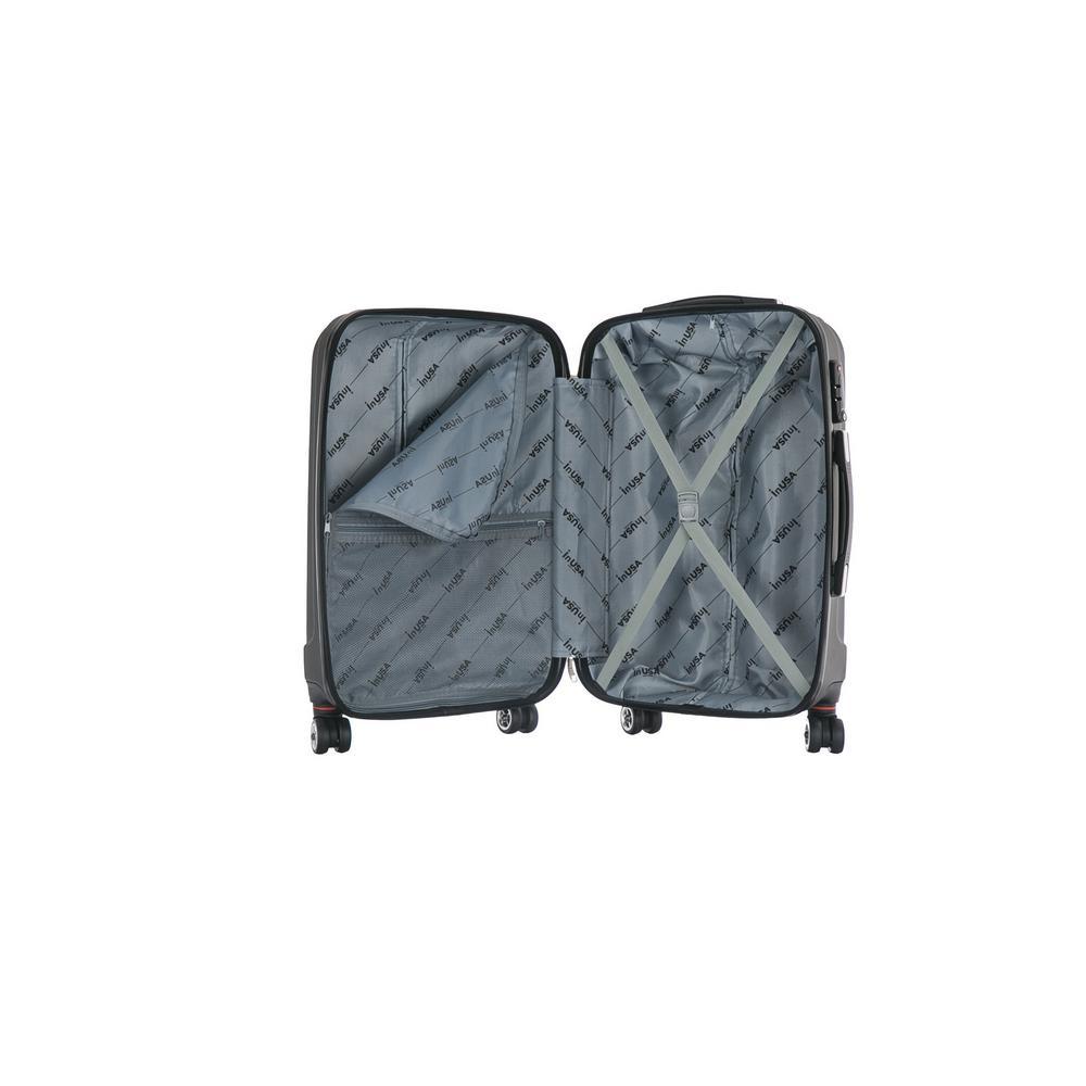 InUSA San Francisco 18 /& 26 Hardside Luggage Set Charcoal