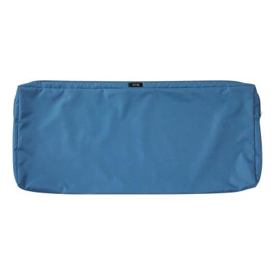 Ravenna Water-Resistant 48 in. x 18 in. x 3 in. Patio Bench/Settee Cushion Slip Cover, Empire Blue