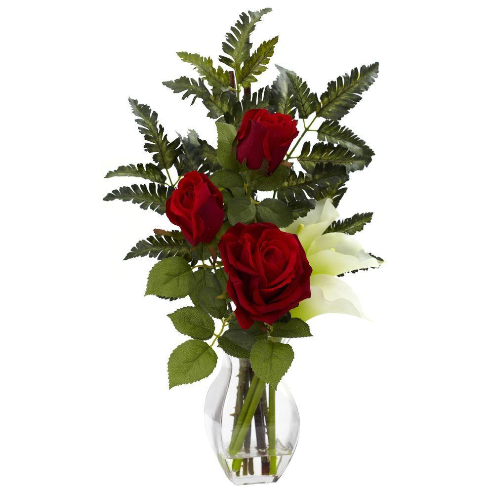Rose and Calla with Vase Arrangement in Cream