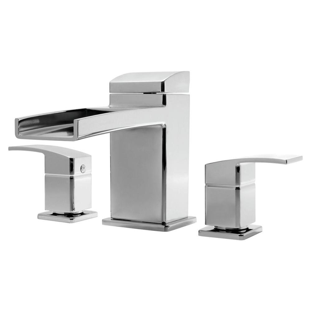Pfister Kenzo 2-Handle Deck Mount Waterfall Roman Tub Faucet Trim ...