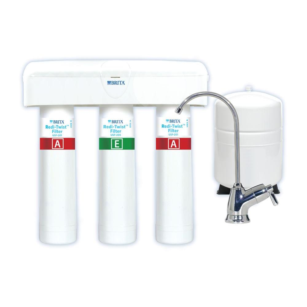 brita redi twist 3 stage reverse osmosis drinking water filtration