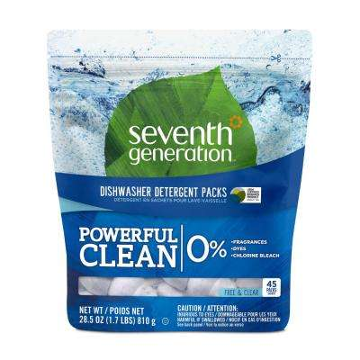 Free & Clear Natural Dishwasher Detergent Concentrated Packs (45/Pack, 8-Pack/Carton)