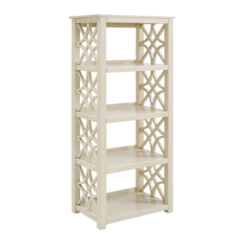 Sloane Antique White Bookcase