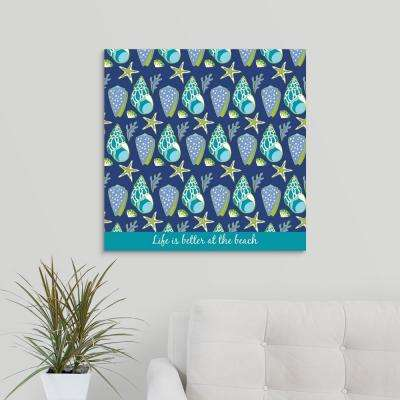 """Life is Better at the Beach"" by Suzanne Nicoll Canvas Wall Art"