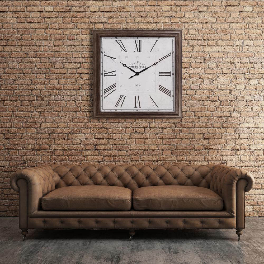 Roman Numeral Gunmetal Wall Clock