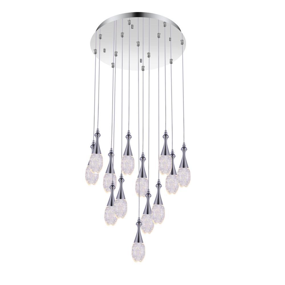 Dior 4-Watt Chrome Integrated LED Chandelier