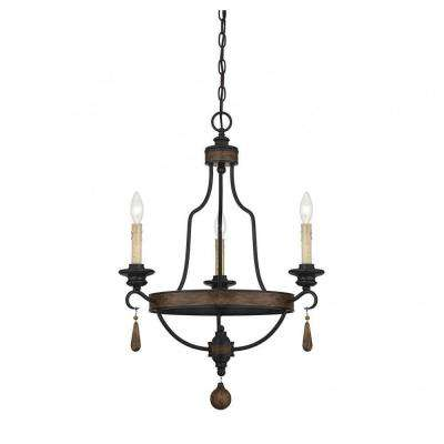 Empire brown chandeliers lighting the home depot welles 3 light durango bronze chandelier aloadofball Gallery