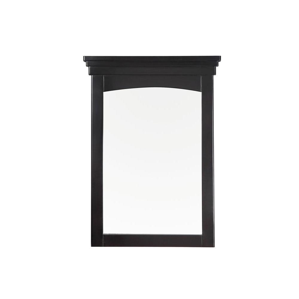 Simpli Home Orleans 30 in. L x 22 in. W Vanity Decor Wall Mirror in Black