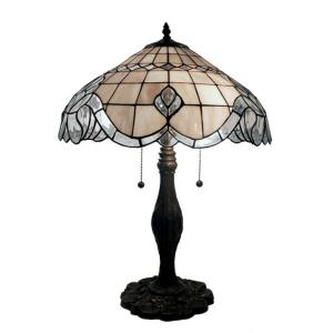 Warehouse of Tiffany 24 inch Bronze Table Lamp with Pearl White Baroque by Warehouse of Tiffany
