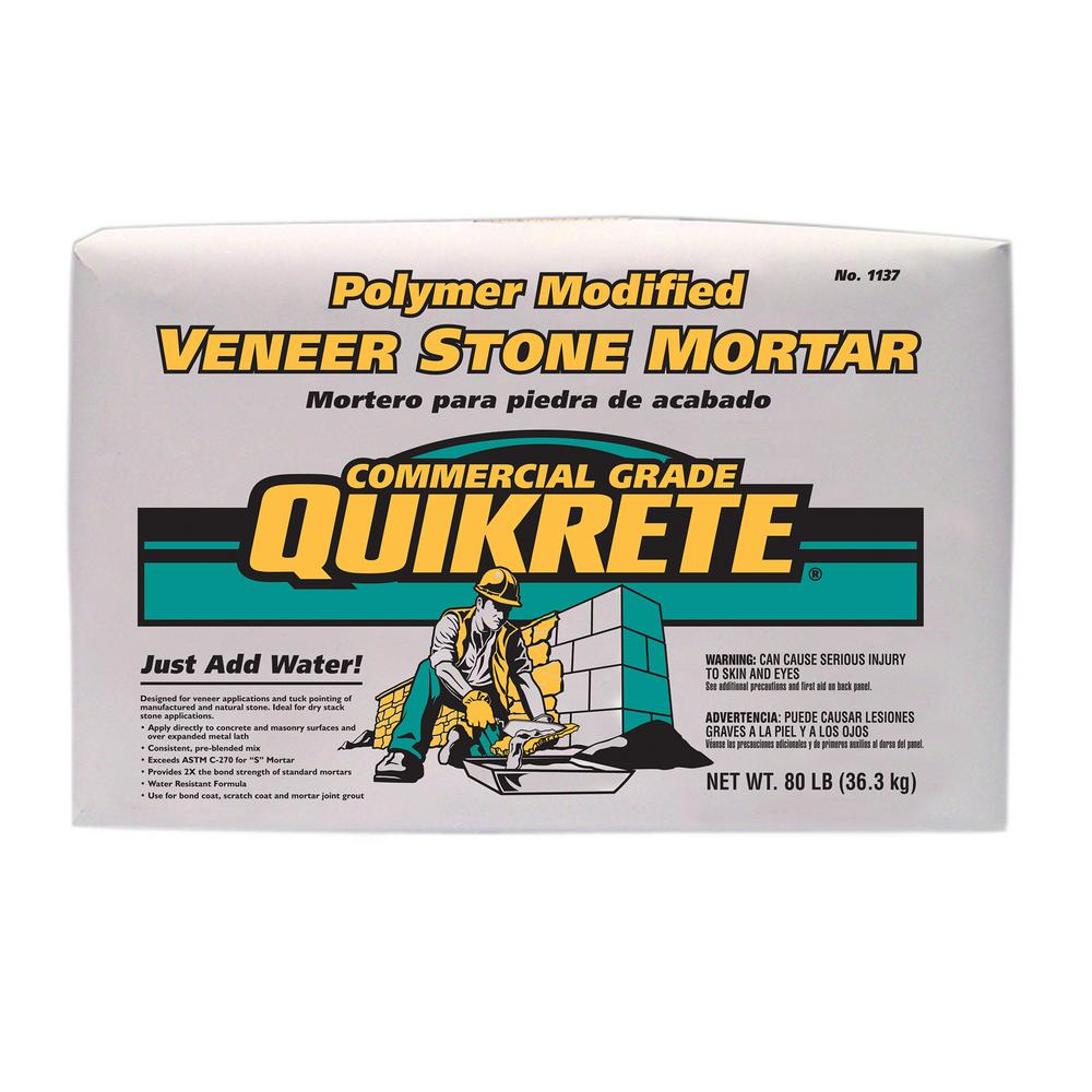Quikrete 80 lb  Polymer Modified Veneer Stone Mortar Mix