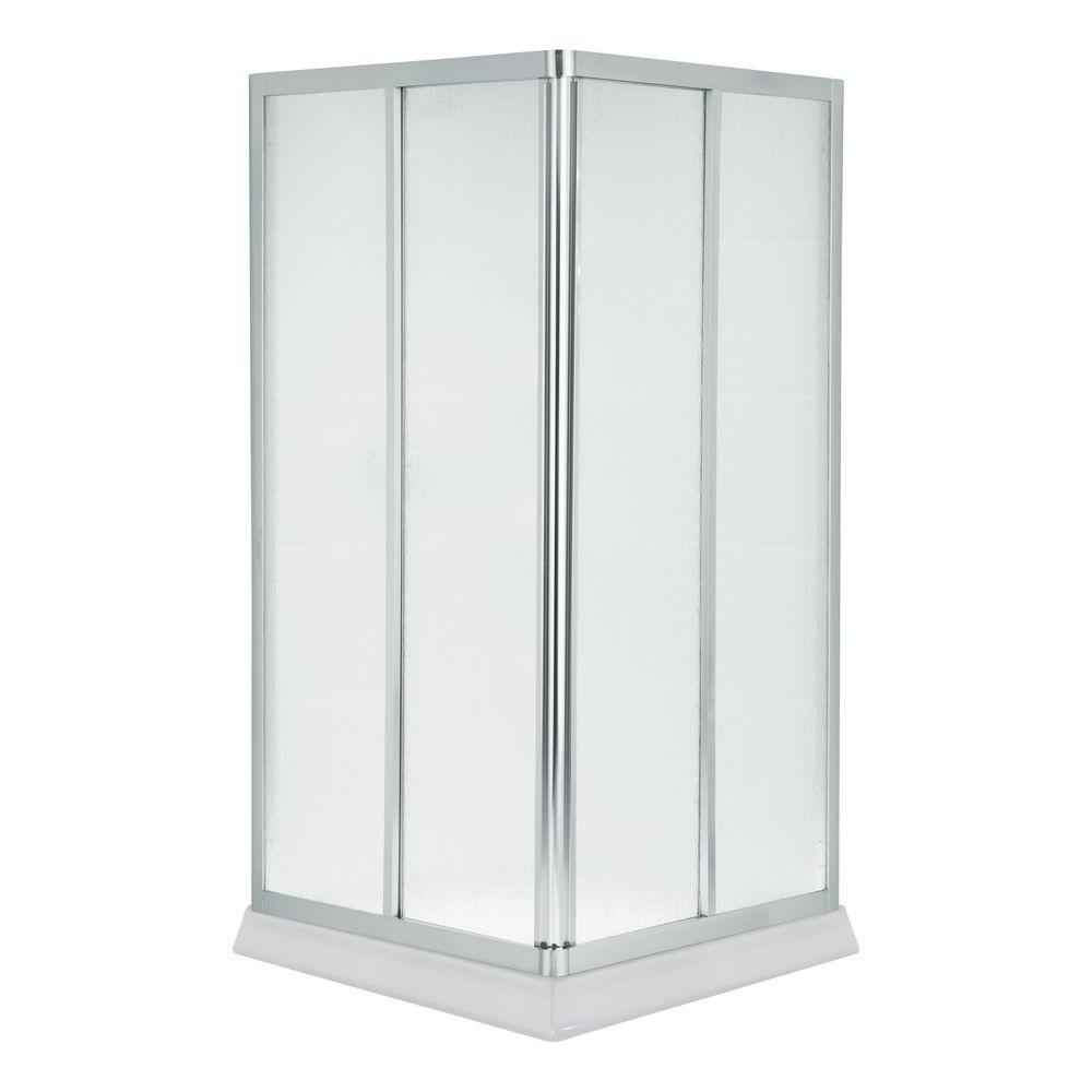 STERLING Intrigue 38 in. x 72 in. Framed Corner Shower Door in Silver-DISCONTINUED