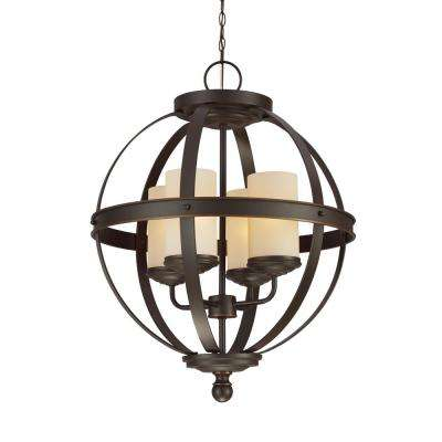 Sfera 4-Light Autumn Bronze Chandelier with LED Bulbs