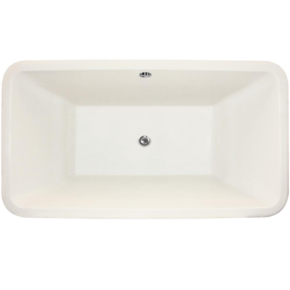 Rockwell 5.5 ft. Acrylic Flat Bottom Whirlpool Freestanding Air Bath Bathtub