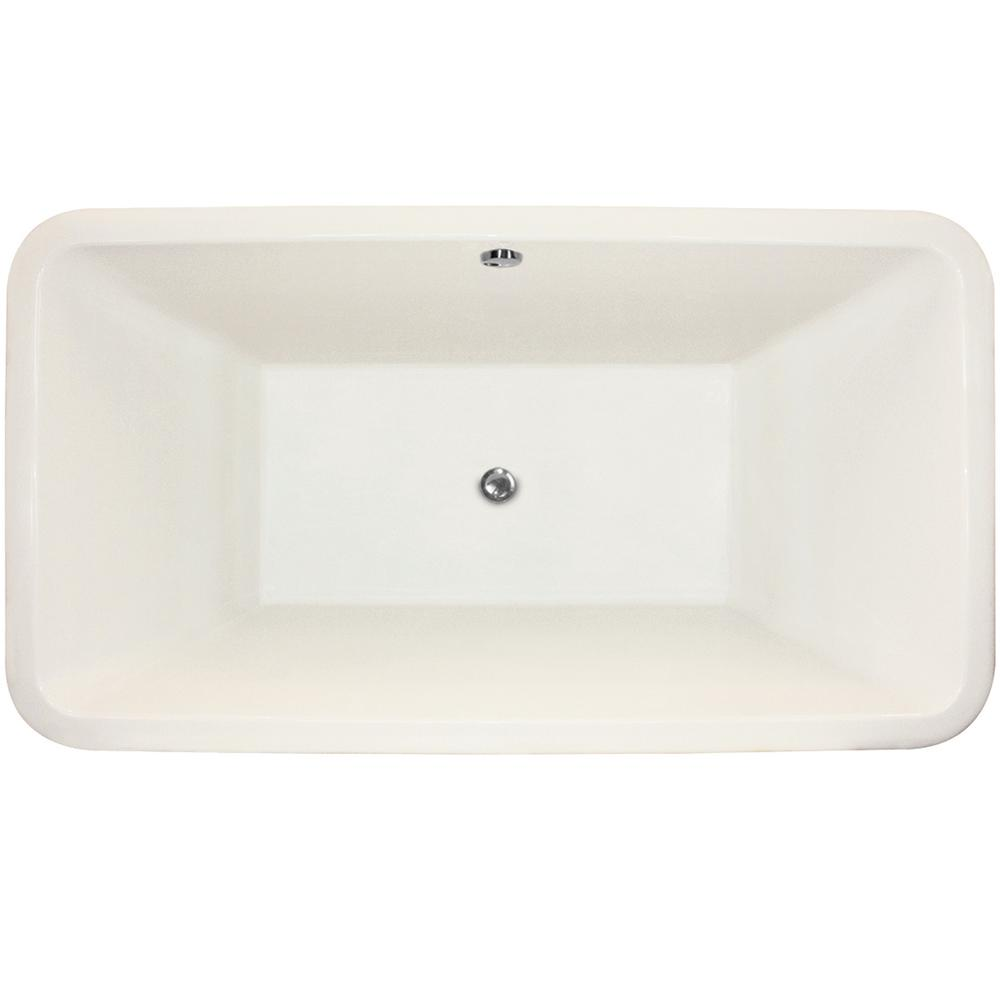 Rockwell 5.5 ft. Acrylic Flatbottom Non-Whirlpool Freestanding Bathtub in White