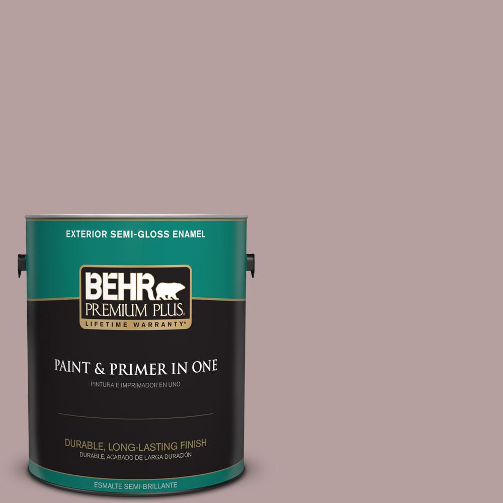 1-gal. #N130-4 Plum Taupe Semi-Gloss Enamel Exterior Paint