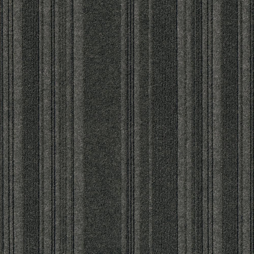 Foss Peel and Stick First Impressions Barcode Black Ice 24 in. x 24 in. Commercial Carpet Tile (15 Tiles/Case)