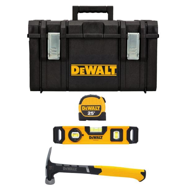 Hand Tool Combo Kit with Tool Box (4-Piece)