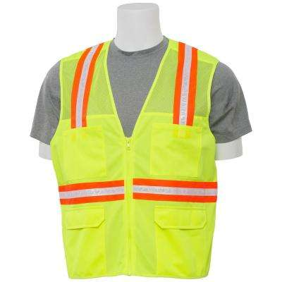 S410 5X Non-ANSI Surveyor Hi Viz Lime Vest