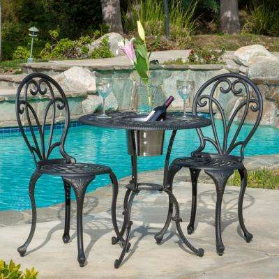 Black ... - Cast Iron - Patio Dining Furniture - Patio Furniture - The Home Depot