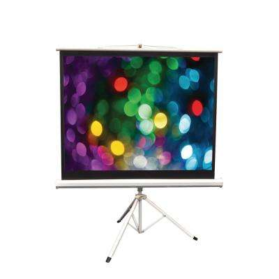 50 in. Floor-Standing Portable Tripod Manual Projector Screen