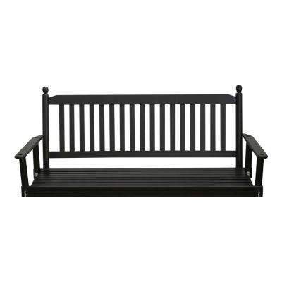 Black 5 ft. Porch Patio Swing