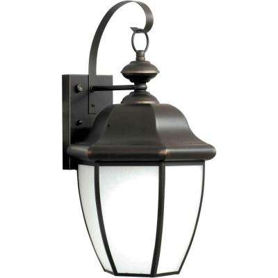Burton 1-Light Wall Mount Outdoor Royal Bronze Fluorescent Light