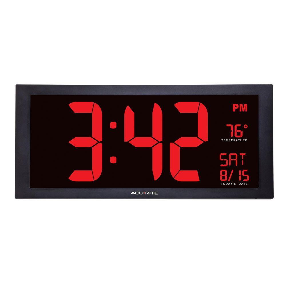 Acurite 18 In Large Led Clock With Indoor Temperature