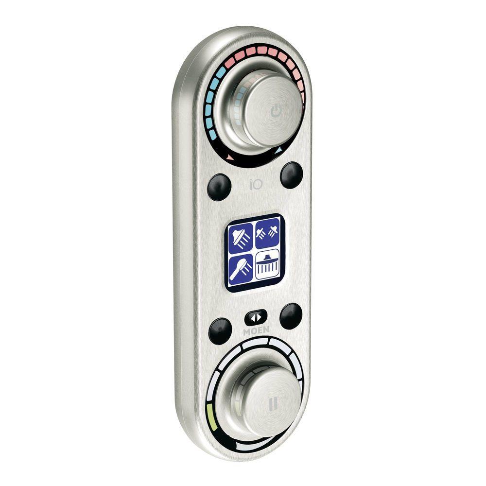 ioDIGITAL Vertical Spa Digital Control Trim Kit in Brushed Nickel (Valve Not Included)