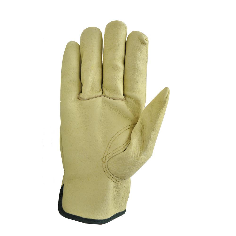 Grain Pigskin Leather Large Work Gloves (3-Pair)