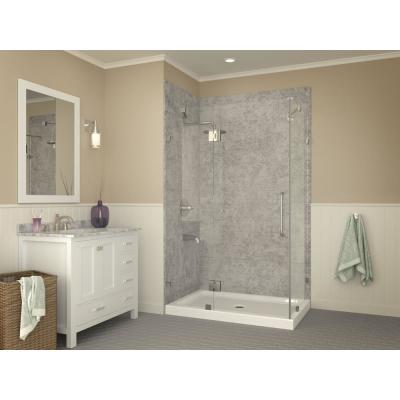 Vail 36 in. x 48 in. Double Threshold Shower Base in White