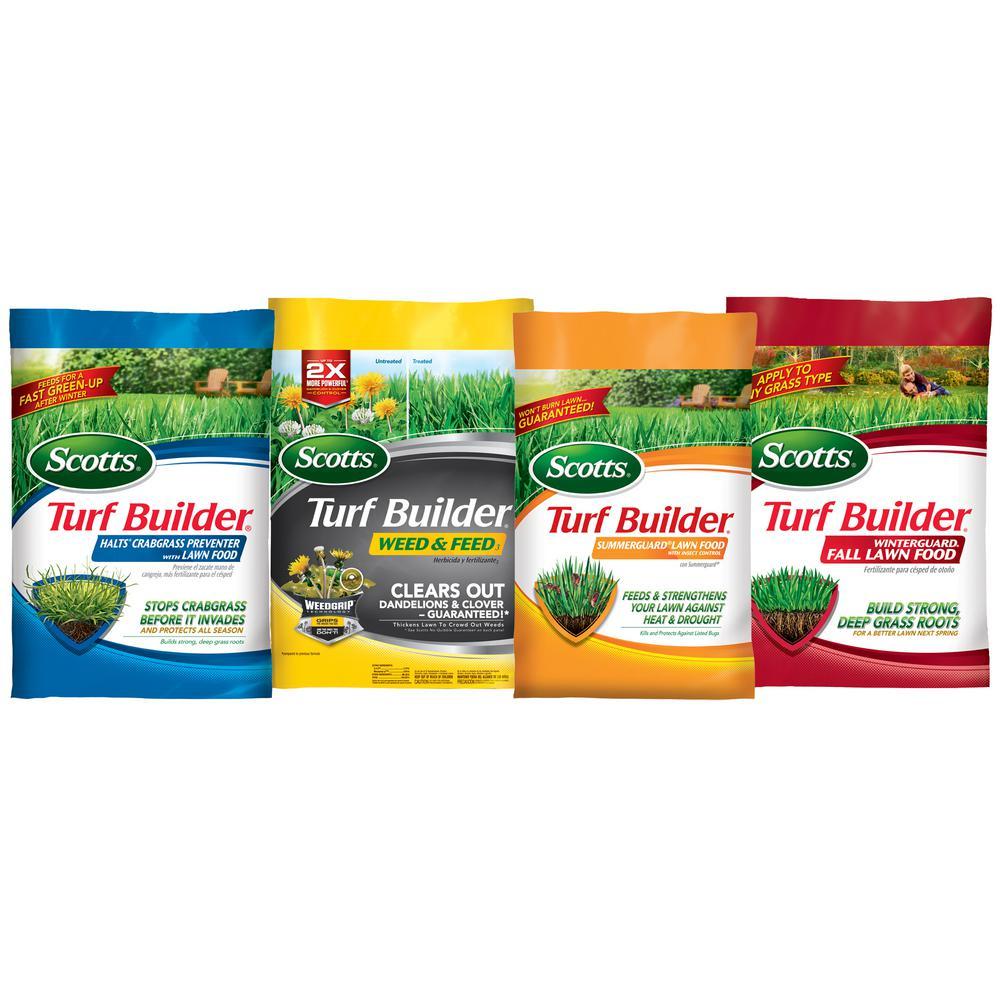 15,000 sq. ft. Northern Lawn Fertilizer Program for Bermuda, Bluegrass, Rye, and Tall Fescue (4-bag)