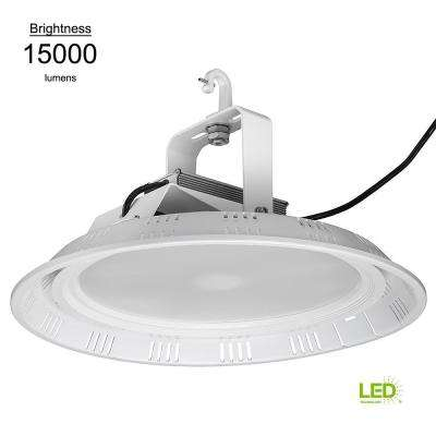 18 in. Round White 400w HID Equivalent 15000 Lumen Integrated LED High Bay (Motion Sensor Compatible) (14 Pack)
