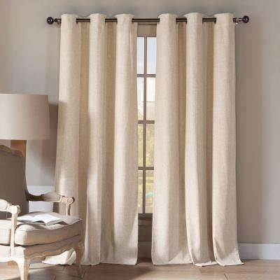 Keighley 112 in. L x 54 in. W Curtain Panel in Linen (2-Pack)