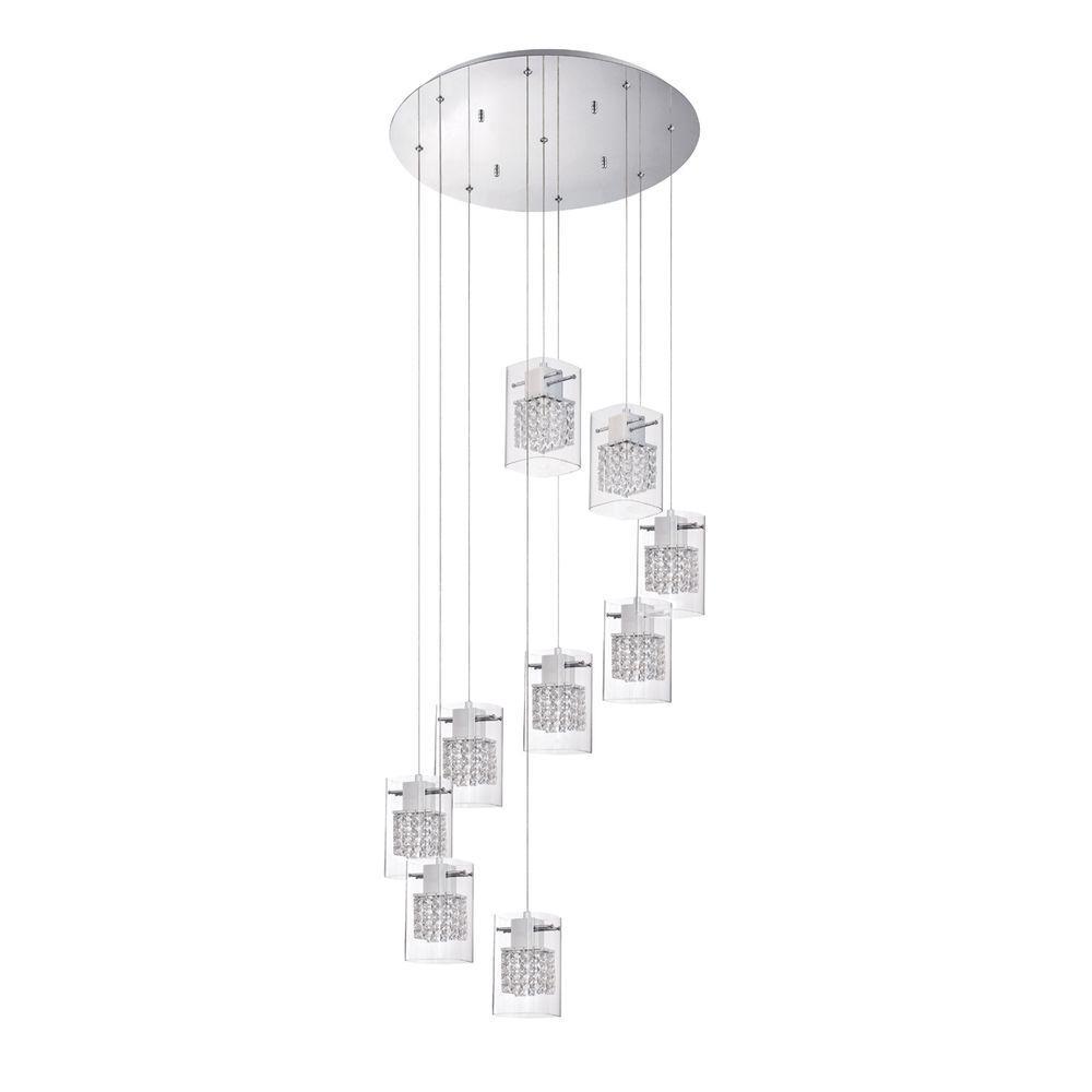 Politan Series 9-Light Chrome Pendant Pan