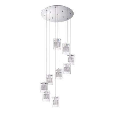 Politan Series 9-Light Chrome Pendant Pan