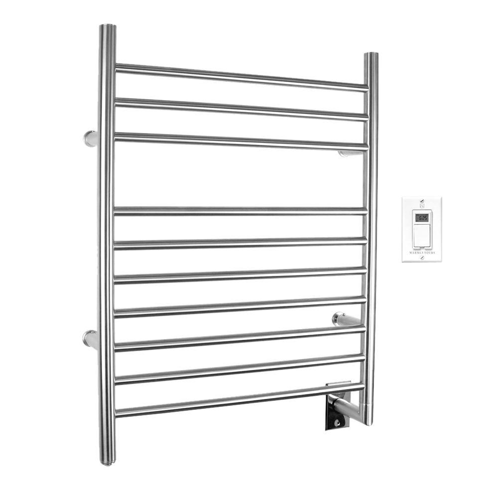 Warmlyyours Infinity 10 Bar Electric Towel Warmer In Brushed Stainless Steel