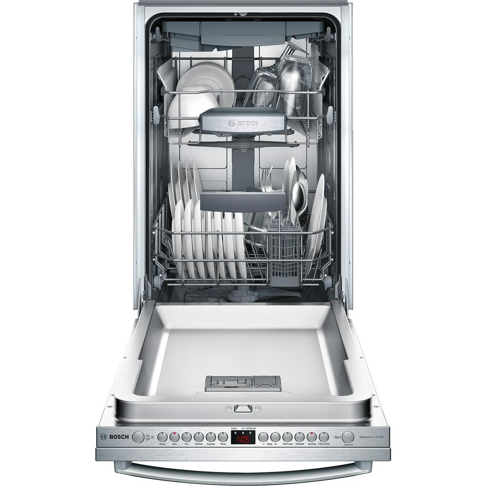 Bosch 800 Series 18 in.Top Control Tall Tub Dishwasher in Stainless Steel  with Stainless Steel Tub and 3rd Rack, 44dBA