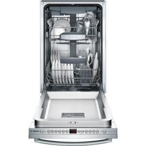 Bosch 800 Series 18 in. ADA Compact Top Control Dishwasher in Stainless Steel with Stainless Steel Tub and 3rd Rack,...