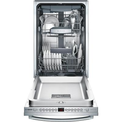 800 Series 18 in. ADA Compact Top Control Dishwasher in Stainless Steel with Stainless Steel Tub and 3rd Rack, 44dBA
