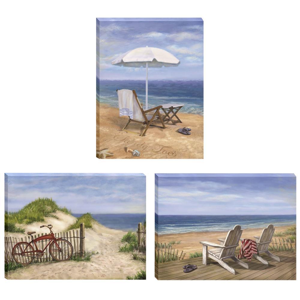 """""""Sand Beach Designs"""" by Opportunities Framed Wall Art"""