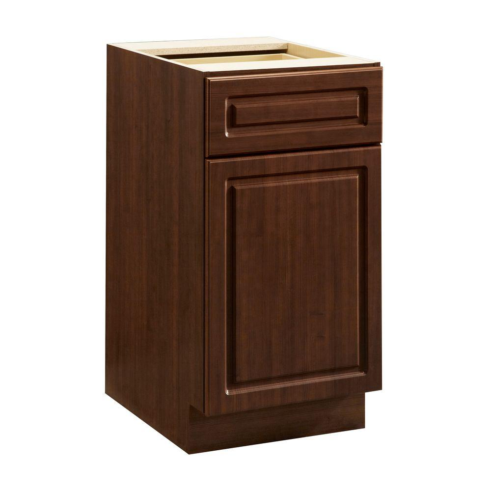 Heartland Cabinetry Heartland Ready to Assemble 18x34.5x24.3 in. Base Cabinet with 1 Door and 1 Drawer in Cherry