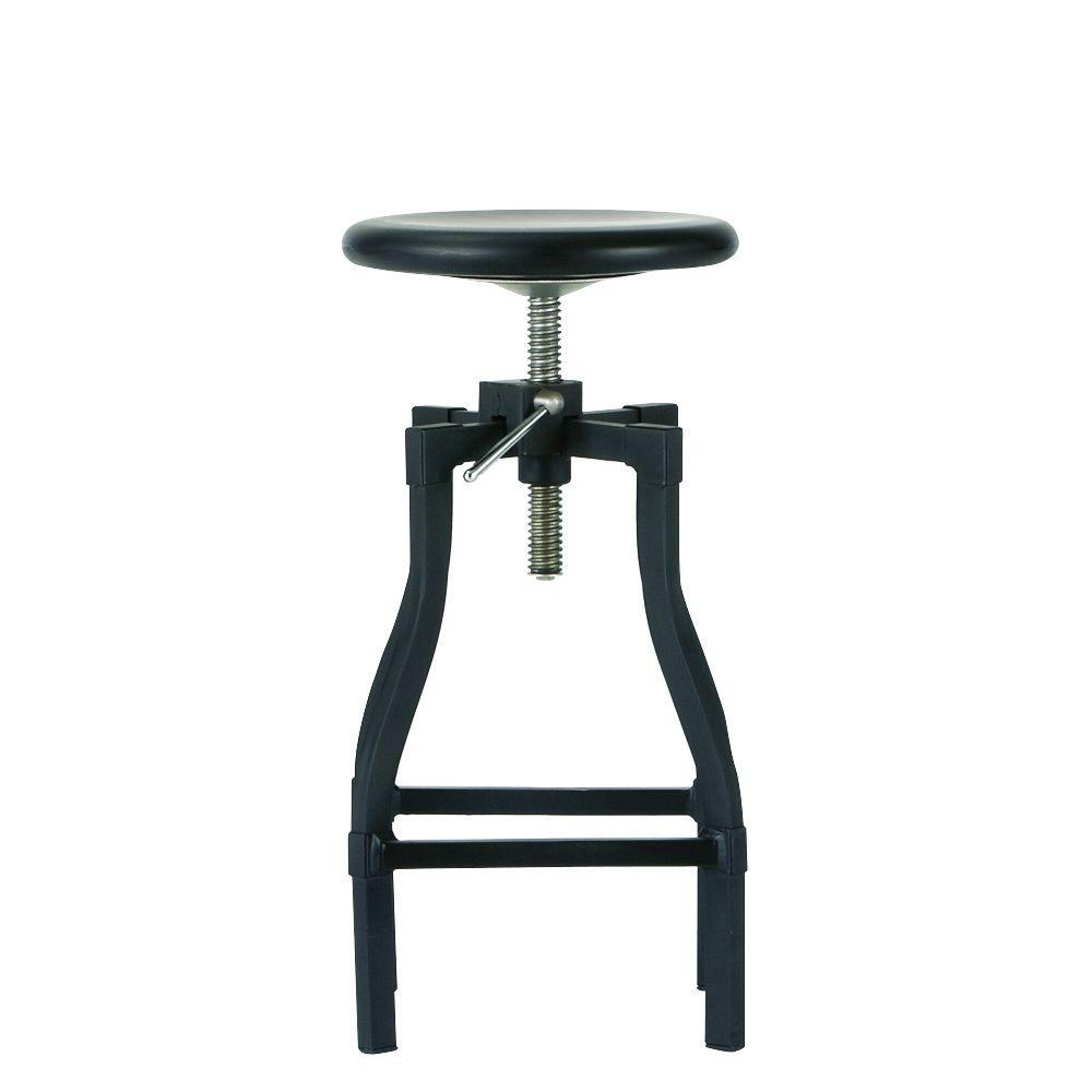 Turner Adjustable Height Black Bar Stool  sc 1 st  The Home Depot & Backless - Bar Stools - Kitchen u0026 Dining Room Furniture - The Home ... islam-shia.org