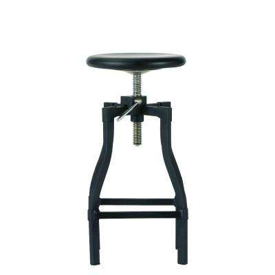 Turner Adjustable Height Black Bar Stool
