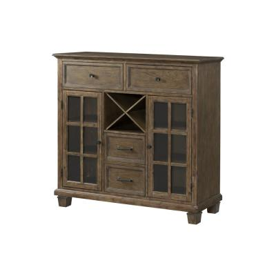 52 in. Brown Tall Rectangle Wood Console Table with Drawers