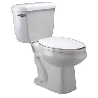 2-piece 1.6 GPF/1.1 GPF Dual Flush Pressure Assist Elongated Toilet in White