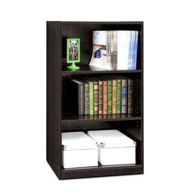 JAYA 3-Shelf Espresso Open Bookcase