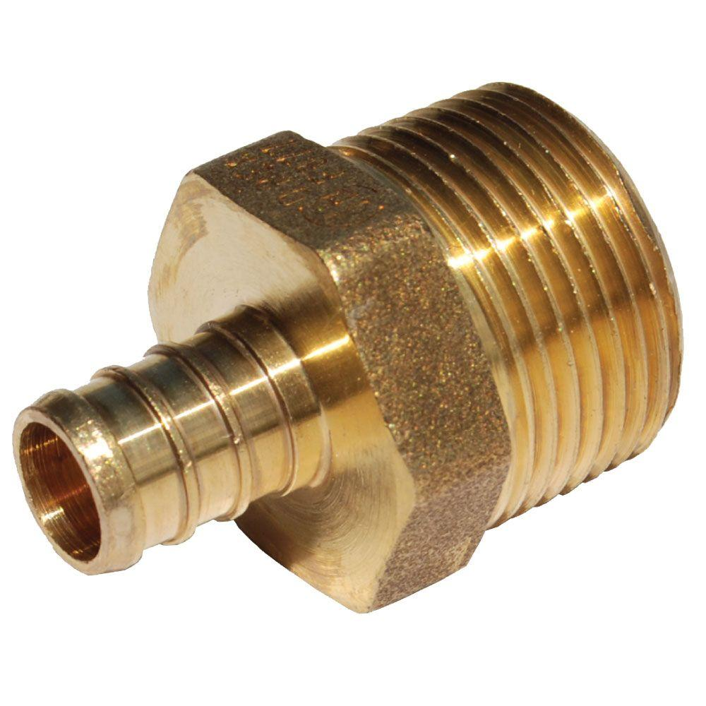 1/2 in. Brass PEX Barb x 3/4 in. Male Pipe Thread
